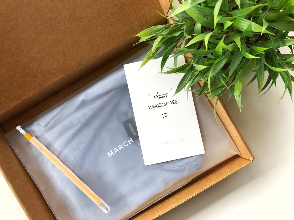 March Tee Box Packaging